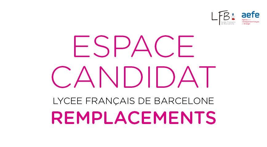 ESPACE CANDIDAT – Lycée français de Barcelone